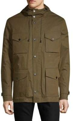 Paul & Shark Snap-Front Hooded Coat