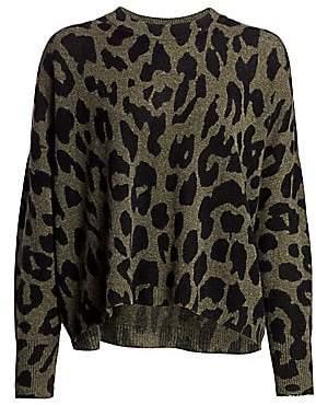 360 Cashmere Women's Marsha Leopard-Print Cashmere Sweater