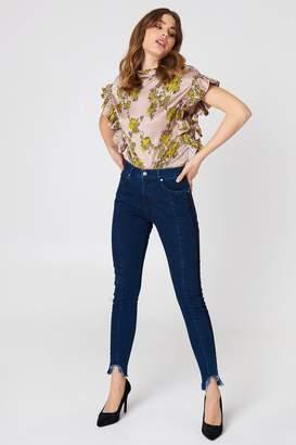 NA-KD Na Kd Rounded Hem Panel Jeans