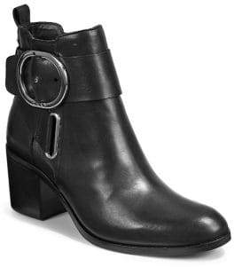 DKNY Tello Ankle Strap Leather Boots
