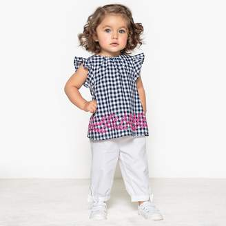 La Redoute Collections Blouse and Trousers Set, 1 Month-3 Years