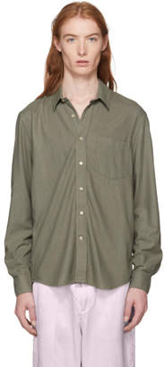 Our Legacy Green Drab Silk Noil Classic Shirt