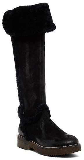 Manas Faux Fur Convertible Suede Boot