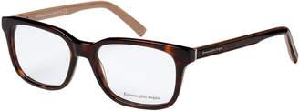 Ermenegildo Zegna EZ5022 Tortoiseshell-Look & Tan Square Optical Frames