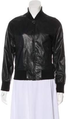 R 13 Leather Bomber Jacket