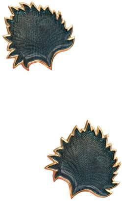 Saint Laurent Vintage Blue Metal Earrings