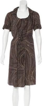 Bottega Veneta Stripe A-Line Dress