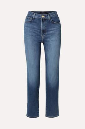 J Brand Jules High-rise Straight-leg Jeans - Mid denim