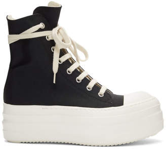 Rick Owens Black Double Bumper Sneakers