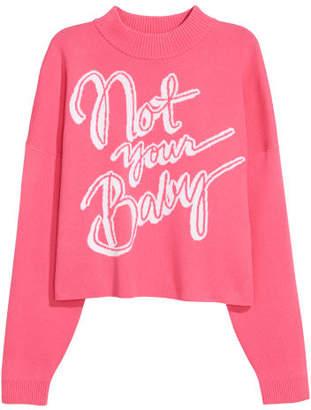 H&M Jacquard-knit Sweater - Pink