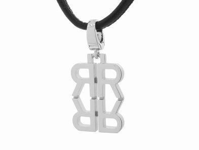 India Hicks Love Letters in Silver on Cord - R