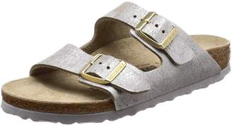Birkenstock Women's Arizona Cork Footbed Slide Sandal 38 M EU