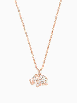Kate Spade Things we love pave elephant mini pendant