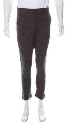 Robert Geller Richard Wool Blend Bouclé Knit Pants