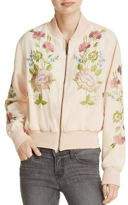 Glamorous Embroidered Bomber Jacket $170 thestylecure.com