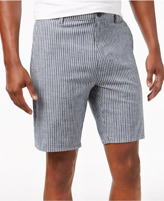American Rag Men's Classic-Fit Stretch Ticking Stripe Denim Shorts, Created for Macy's $45 thestylecure.com