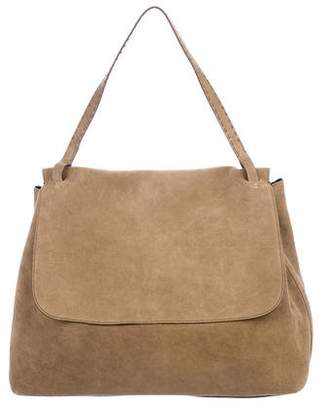 The Row Suede Top Handle 14 Bag