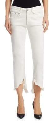 Boy Straight Asymmetric Hem Jeans