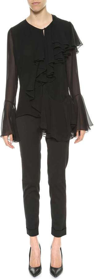 Tom Ford Silk Blouse With Volants