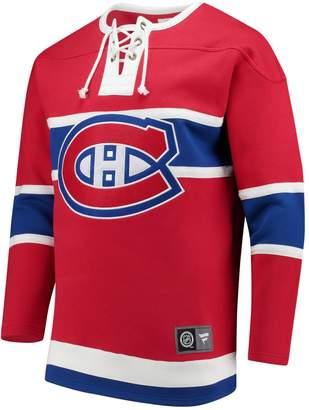 Fanatics Montreal Canadiens NHL Breakaway Cotton Blend Fleece Pullover