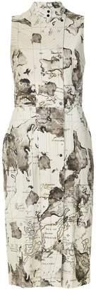 Andrea Marques maps print shift dress