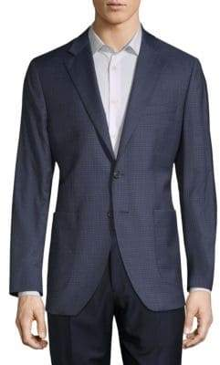 Wool Silk Pincheck Sport Jacket