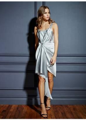 Fleur Du Mal Asymmetrical Cascade Dress