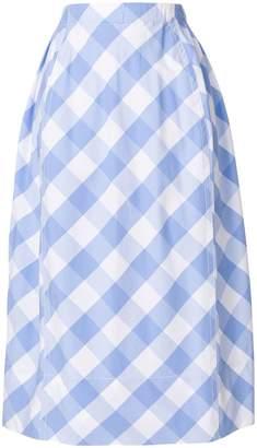 Marni checked midi skirt