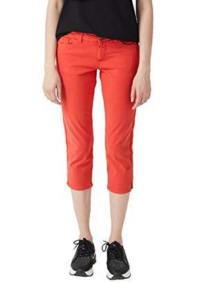 S'Oliver Women's 14.904.76.5313 Trouser, (Brick Red 2610), (Size: 38)