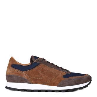 Brown Suede/Mesh Vilamoura Running Trainers