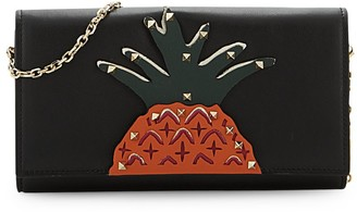 Valentino Garavani Pineapple Leather Flap Wallet