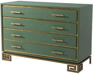 Theodore Alexander Fascinate Greek Key Dresser - Green/Gold