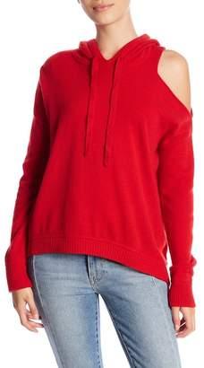 Minnie Rose Cold-Shoulder Cashmere Hoodie