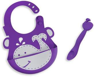 Marcus Collection & Willo the Whale Silicone Baby Bib and Feeding Spoon Set