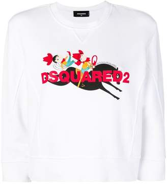 DSQUARED2 Cowboy print sweatshirt