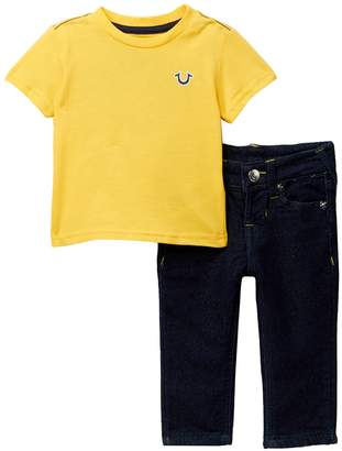 True Religion Short Sleeve Tee & Jeans Set (Baby Boys)
