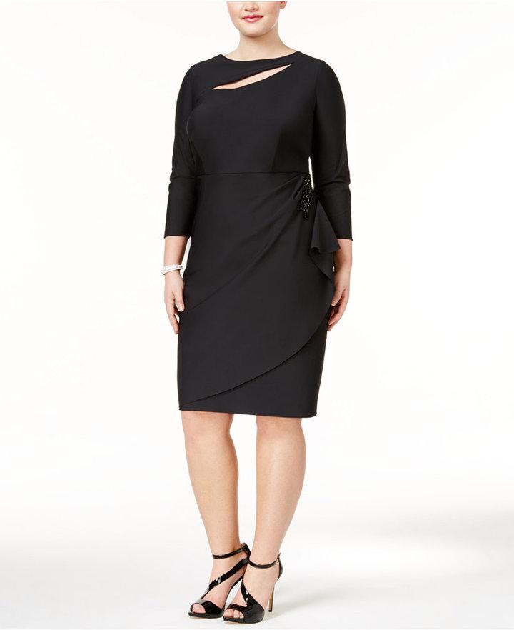 Alex EveningsAlex Evenings Plus Size Embellished Cascade Dress
