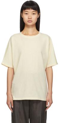 LAUREN MANOOGIAN SSENSE Exclusive Off-White Cashmere Dolman T-Shirt