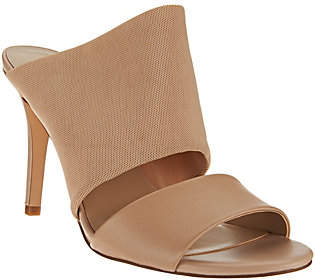 Halston H by Slide-On Heel with Mesh Strap -Victoria