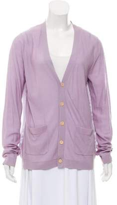 Timo Weiland Lightweight Button-Up Cardigan Purple Lightweight Button-Up Cardigan
