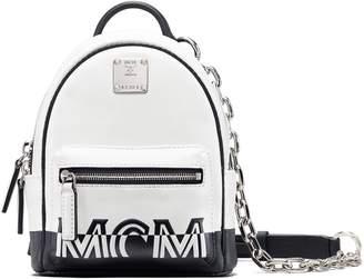 MCM Mini Contrast Logo Leather Crossbody Bag