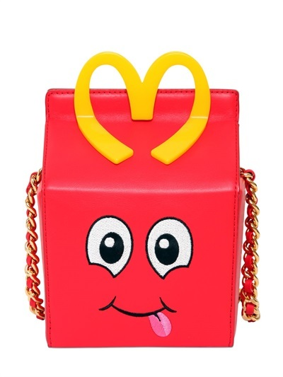 Moschino - Happy Meal Leather Shoulder Bag