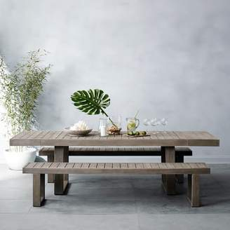 west elm Portside Outdoor Expandable Dining Table - Weathered Gray