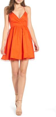 Endless Rose Circle Trim Fit & Flare Dress
