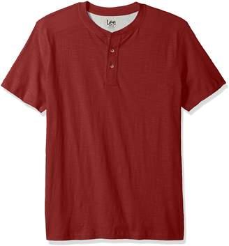 Lee Men's Tall Size Short Sleeve Henley Shirt