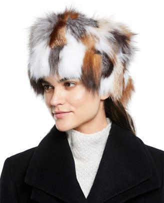 Adrienne Landau Fox Fur Multicolor Hat
