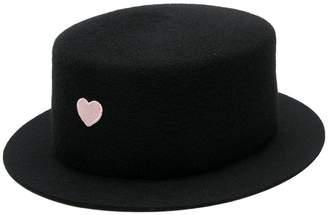 Federica Moretti heart embellished hat