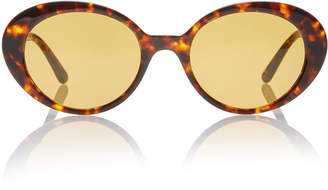 Oliver Peoples THE ROW Parquet Oval-Frame Metal Sunglasses