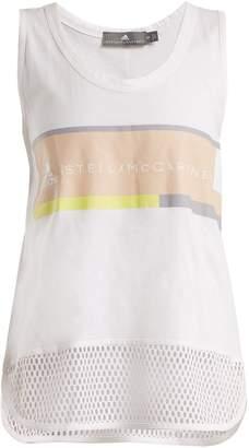 adidas by Stella McCartney Essentials logo-print performance tank top