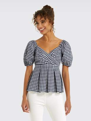 Draper James Gingham Peplum Top
